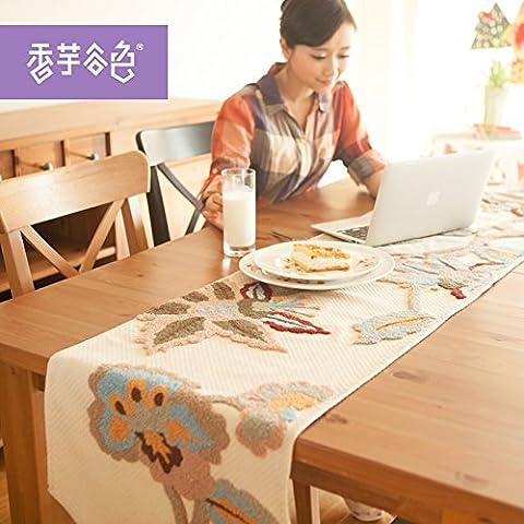 In stile retrò fiore tavoli da giardino bandiera continental tavolo da pranzo ,112*40cm,1,112x40cm coperchio