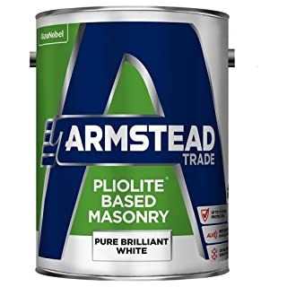 Armstead Trade Pliolite Masonry Paint Brilliant White 5 Litres by Armstead Trade
