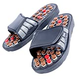 SJ 28CM Women Men Massager Slippers Acupuncture Foot Care Reflex Sandals Shoes Massage Rubber Multi Color 1 Pair - 09