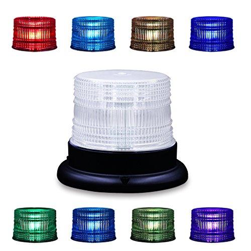 LED Beacon Strobe Light, Appow 8 Colores Ajustable Emergencia Luz Estroboscópica Giratoria con Control Remoto, Base Magnética Para DC 12-90V Encendedor de Cigarrillos Vehículos