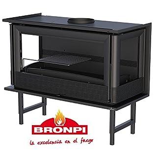 BRONPI Estufa DE LEÑA INSERTABLE Modelo PARIS-90 3C