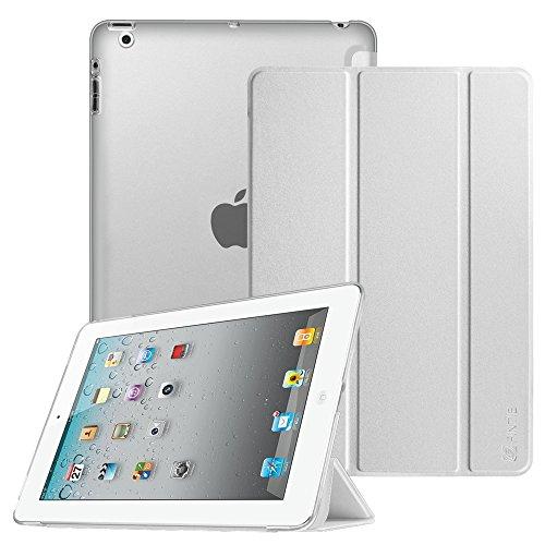 Fintie iPad 2 / 3 / 4 Hülle - Ultradünne Superleicht Schutzhülle mit transparenter Rückseite Abdeckung Cover mit Auto Schlaf / Wach Funktion für Apple iPad 2 / iPad 3 / iPad 4 Retina, Silber