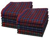 Betz 12 Stück Damen Stoff Taschentücher Paloma III Größe 30x30 cm 100% Baumwolle Farbe Dessin 10