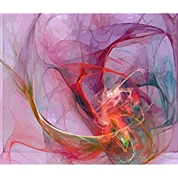 Pitaara Box Digital Fractal Unframed Canvas Painting 34 x 28.8inch