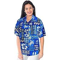 coprire breve pulsante maniche gi� Camicia hawaiana beachwear camicetta collare signore superiori