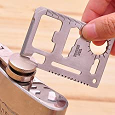 PeepalComm Multi Tools 11 in 1 Outdoor Hunting Survival Camping Pocket Military Credit Card Knife Tool Kits Lifesaving Card Saber Cards