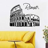 BRILLINT.YY Autocollant Mural Rome Ville Sticker Horizon Silhouette Italie Décor À La Maison PVC Mur Art Moderne Conception Ville Muraux 42X33Cm