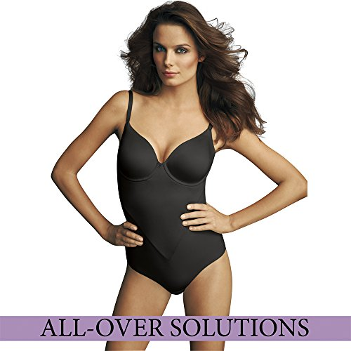Maidenform Damen Softschalen Formender Body COMFORT DEVOTION FULL COVERAGE BODYBRIEFER INCREDIBLY SOFT Schwarz
