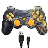 Warfare Mando Inalámbrico Bluetooth Controller Doble Vibración para Sony PS3 PlayStation 3 con...
