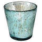 EXOTICA COR MULDER Teelichtglas Nisri - Türkis - innen verspiegelt - Teelichthalter - Tischdeko - Windlicht