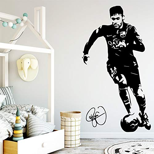 Soccer Star Vinyl Wall Stickers Wall Decor Wallpaper per soggiorno Camera da letto per bambini Camere Fai da te Home Decoration A4 30 * 55CM