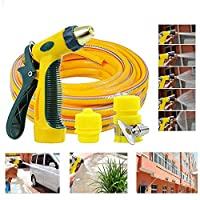 ‏‪Gluckluz Garden Hose Nozzle High Pressure Spray Nozzles Expandable Magic Garden Hose up to 30m, Leak-Proof Hand Sprayer Hose Gun for Home Washing Dogs Pets Car Wash‬‏