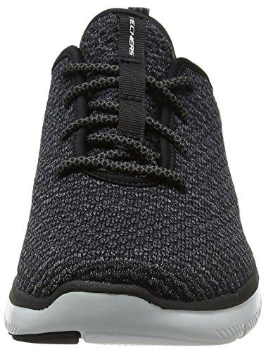 Skechers Flex Advantage 2.0-Cravy, Baskets Homme Noir (Black/white)
