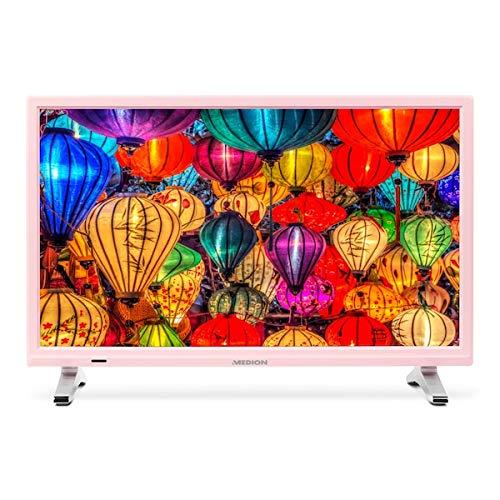 MEDION Life P13500 MD 21500 54,6 cm (21,5 Zoll Full HD) Fernseher (LCD-TV mit LED-Backlight, Triple Tuner, DVB-T2 HD, HDMI, CI+, integrierter Medienplayer) rosa -