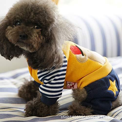 HVTKL Teddyhund, 1,2 m, für Herbst und Winter, Dicke Kleidung, Haustier Kleidung Katze als Bär Bomei Warm I Love Vater und - Kostüm Für Mütter Und Väter
