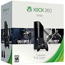 Xbox 360 E + Mando (Consola de 500 GB) Color NegroXbox 360 E + Mando + Call of Duty Ghosts + Call of Duty Black Ops 2 (Consola de 500 GB) Color Negro