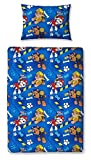 Childrens Cot Bed / Junior / Toddler Bed Duvet Cover and Pillowcase Sets - 120cm x 150cm (Paw Patrol Rescue)