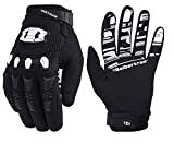 Seibertron Dirtpaw Unisex Rutschfeste Bike Bicycle Cycling/Radsport Racing Mountainbike Handschuhe für BMX MX ATV MTB Motorcycle Motocross Motorbike Road Off-Road Race Touch Screen Gloves Schwarz XS