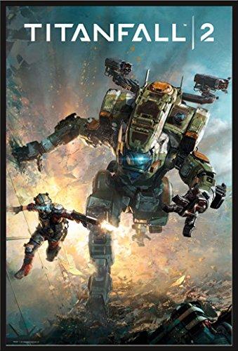 Preisvergleich Produktbild Titanfall 2 - Cover - Games Videospiele Egoshooter Poster Plakat Druck - Grösse 61x91, 5 cm + Wechselrahmen der Marke Shinsuke® Maxi aus Kunststoff schwarz - mit Acrylglas-Scheibe.