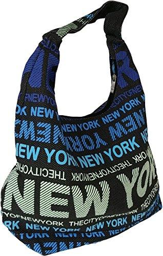 Robin Ruth Canvas Umhängetaschen Schultertaschen NEW YORK USA Kollektion Auswahl dunkelgrau blaue schrift