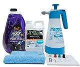 Gloria FoamMaster FM10 + ValetPro Snow Foam + Meguiars Shampoo Auswahl + Zubehör (Meguiars NXT Car Wash Shampoo 1.89L)