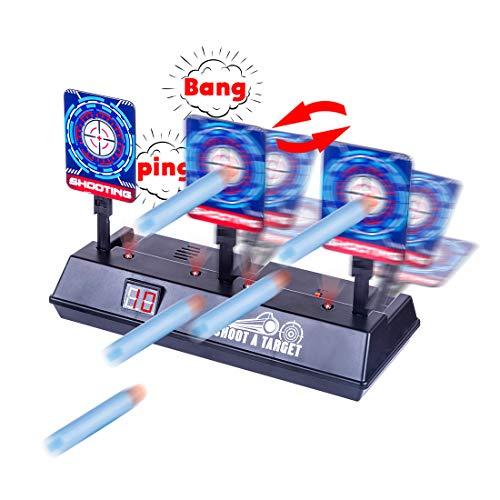 GUOGUO Elettrico Tiro Bersaglio per Nerf N-Strike Elite/Mega/Rival Serie Obiettivo di tiro Elettrico di Reset Automatico Soft Bullets Giochi di Tiro con Effetto sonoro Leggero