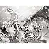 Fototapeten Blumen Magnolien Schwarz Weiß 352 x 250 cm Vlies Wand Tapete Wohnzimmer Schlafzimmer Büro Flur Dekoration Wandbilder XXL Moderne Wanddeko 100% MADE IN GERMANY - Runa Tapeten 9135011c