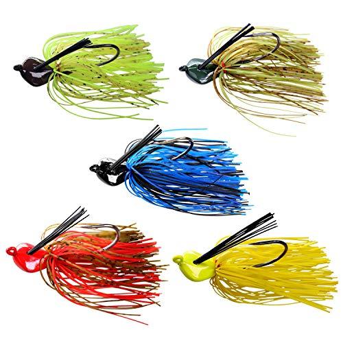 20g / 0,7oz Bass Fishing Jigs Salzwasser Süßwasser Angelköder Schwimmen Jig Mischfarbe Röcke Angeln Jigs für Bass Crappie Panfish -