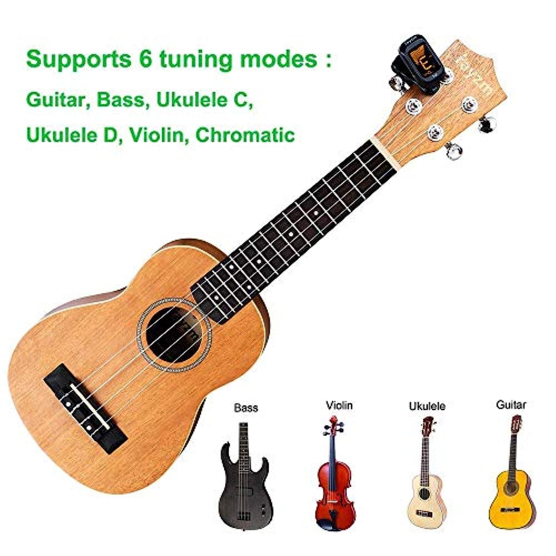 Batterie Tuner Bass Guitar Tuner ukul/él/é tuner clip sur Guitar Tuner Clip-on Tuner pour Guitare Ukul/él/é Violon Bass 1pcs Noir