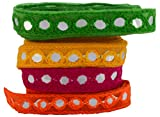 #10: Fashion Mirror Laces in different colors for dress/sarees/caps/bags/decorations/ borders, crafts, any many more.. pack of 4 meters