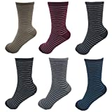 MRCC 6/12 Paar Damensocken Wintersocken Thermosocken Wollsocken Damen Wolle warme Socken, 6 Paar 1214, 35-38