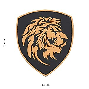 Patch 3D PVC Bouclier Lion / Cosplay / Airsoft / Camouflage …