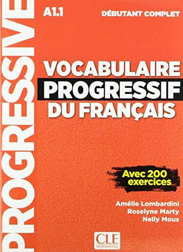 Vocabulaire progressif du français - Niveau débutant complet - Livre + CD + Livre-web - Nouvelle couverture par Amélie Lombardini