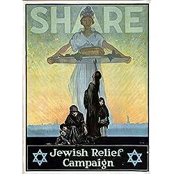 Das Museum Outlet–Jüdische Kampagne, gespannte Leinwand Galerie verpackt. 40,6x 50,8cm