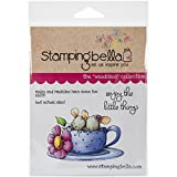 Stamping Bella Cling Rubber Stamp 6.5-inch x 4.5-inch, Maisy and Madeline Have Some Tea