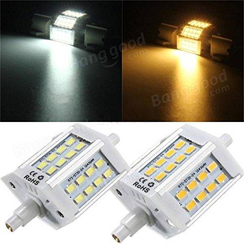 Bazaar Helle 10W R7S nicht dimmbaren 78mm 24 SMD 5730 LED Mais-Birne 10W Flut-Licht der Halogen-Lampe 85-265V (Halogen-glühlampen Flut Der)