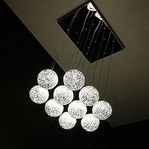 BBSLT Pez araña lineal LED creativa , luz amarilla.