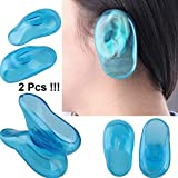 Leoie 1 Pair Clear Silicone Ear Cover Hair Dye Salon Shield Protector