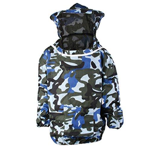 FITYLE Professioneller Imker-Anzug Schutzausrüstung Mit Kapuze aus Baumwoll - Blau Camo