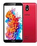 TP-Link Neffos C5 Plus (16GB) Einsteiger Smartphone ohne Vertrag, 5,34 Zoll FullView Display 18:9, Dual Sim + MicroSD, Android 8.1, rot