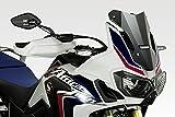 Honda CRF1000 Africa Twin - Windschutzscheibe 'Warrior' - Aluminium Windschild Windabweiser Scheibe - Einfache Installation - Mattschwarz - Motorradzubehör De Pretto Moto (DPM) - 100% Made in Italy