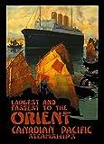 """Millésime Voyage en ORIENT ET EXTRÊME-ORIENT """" Paquebots vers l'Orient """" - Sur Format A3 Papiers Brillants de 250g. Affiches de Reproduction..."""