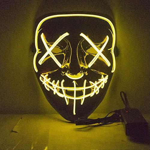 Wbdd Maske Neon Maske Led Leuchten Party Masken Die Säuberung Wahljahr Große Lustige Masken Festival Cosplay Kostüm Liefert Glühen Im Dunkeln x11032e (Säuberung Die Maske Film)