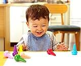 GiBot Kleinkinder Wachsmalstifte Handflächengriff Wachsmalstifte, 12 Farben Zeichenstift Wachsmalstifte Stapelbares Spielzeug für Kinder, Kleinkinder und Kinder, Sicher und nicht toxisch. von GiBot