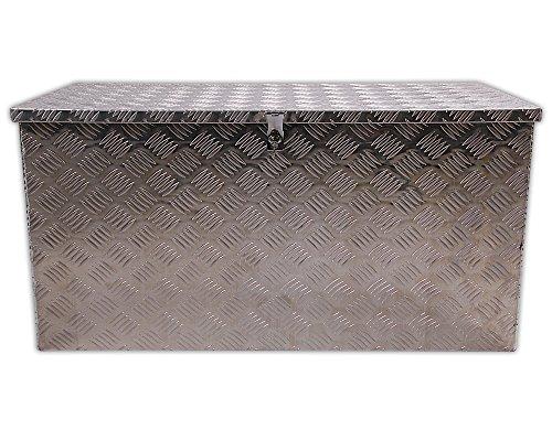 Fahrzeug - Pritschenbox Pickup Box Alu - Schiffsdeckbox Transportbox Aluminium Riffelblechkiste ca. 250 Liter Werkzeugkoffer Transportkiste ca. 100 x 50 x 50 cm ...