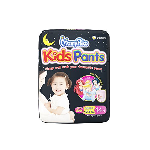 MamyPoko Kids Pants Diaper for Girls above 2 years , Pack of 14 diapers (Kids 1 - 14)