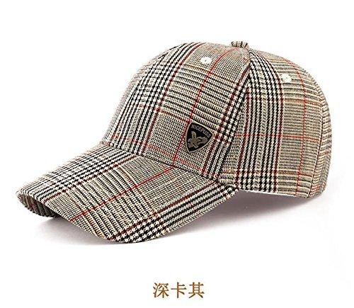 Zxwzzz Hüte Huts Herren Sonnenhut Sommer Outdoor Sun Baseballmütze Persönlichkeit Cap (Color : Deep Khaki)