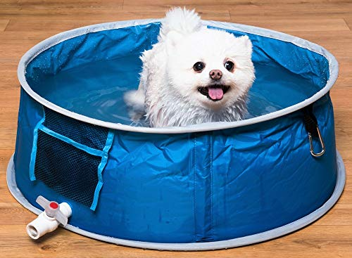 Coco Jojo Devesesport | Piscina para Perros 65 cm | Piscina para Mascotas | Plegable | Bañera al Aire Libre