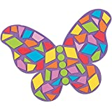 6 x Schmetterling Bastelset Moosgummi Kindergarten Kindergeburtstag Basteln DIY Geburtstag Mitgebsel