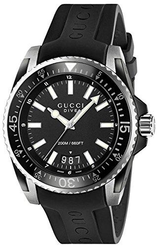 Gucci Dive XL Orologio da uomo Quarzo 45mm cinturino in gomma colore nero...
